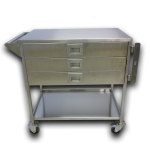 Stainless steel 3 drawer cart