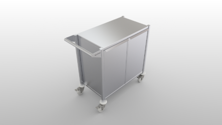 Enclosed stainless steel clean room cart